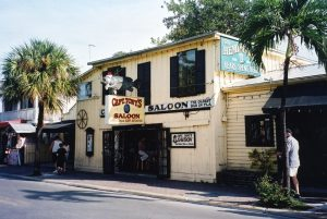 the outside of captain tony's saloon