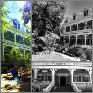 photo collage of the porter mansion