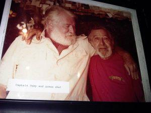 Photo of Captain Tony and Hemingway