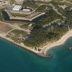 Aerial view of Fort Zachary Taylor State Park
