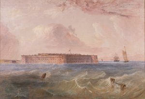 Painting of Fort Taylor
