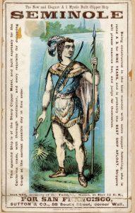 Seminole clipper ship card